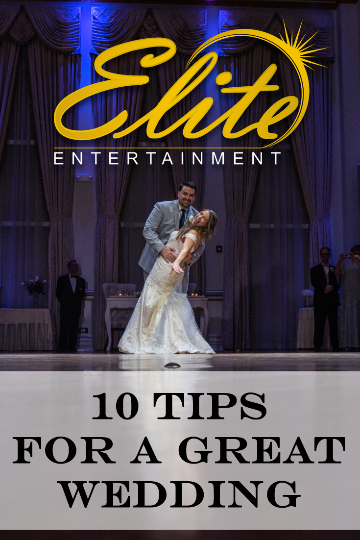10 tips for a great wedding pin