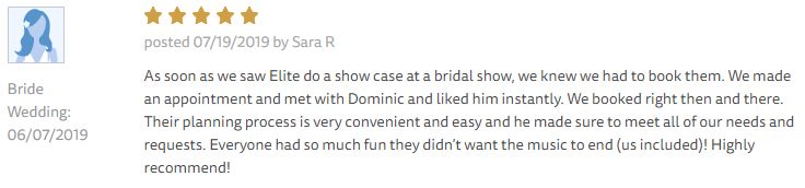 EliteEntertainment_TheKnotReview_NJWedding_DominicSestito 2019 06-07-2019