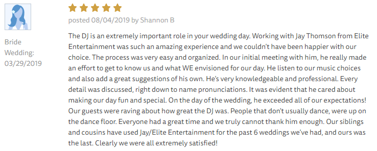 EliteEntertainment_TheKnotReview_NJWedding_JayThomson 2019 03-29-2019