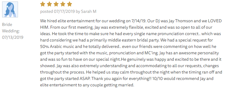 EliteEntertainment_TheKnotReview_NJWedding_JayThomson 2019 07-13-2019