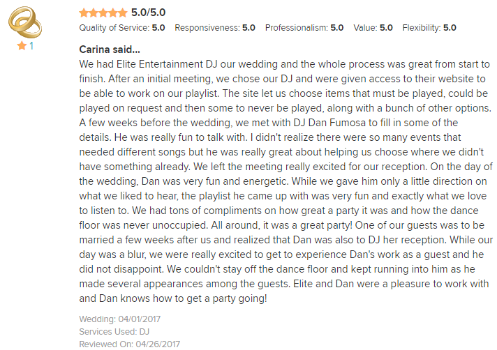 EliteEntertainment_WeddingWireReview_NJWedding_DanFumosa 2017 4-1-17