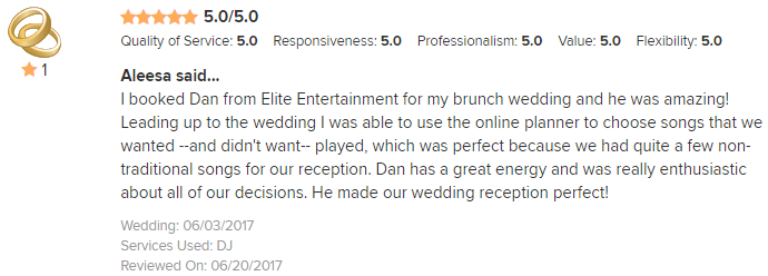 EliteEntertainment_WeddingWireReview_NJWedding_DanFumosa 2017 6-3-17