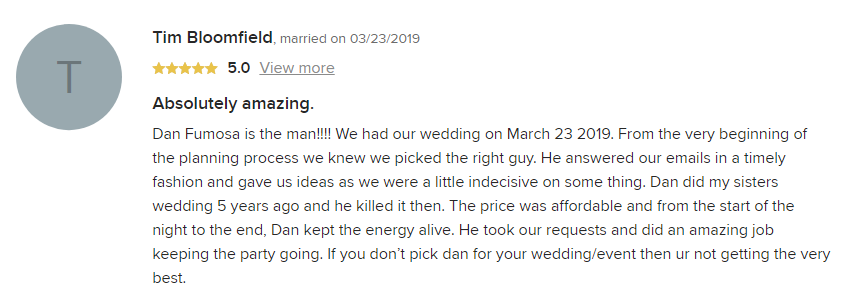 EliteEntertainment_WeddingWireReview_NJWedding_DanFumosa 2019 03-23-2019