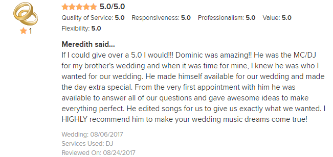 EliteEntertainment_WeddingWireReview_NJWedding_DominicSestito 2017 8-6-17