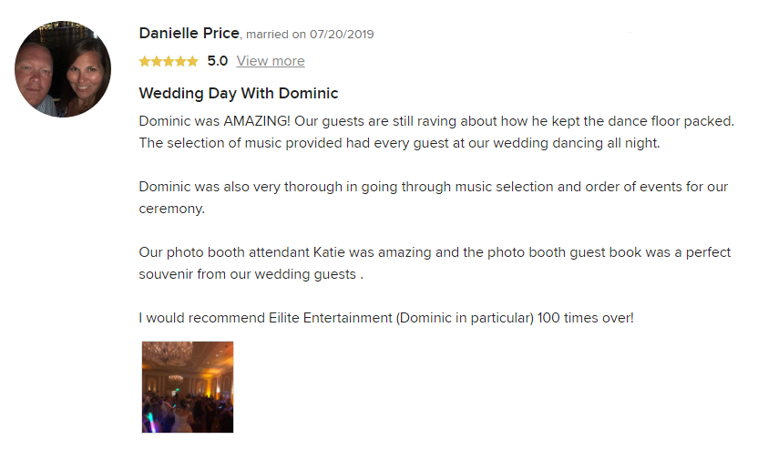 EliteEntertainment_WeddingWireReview_NJWedding_DominicSestito 2019 07-20-2019