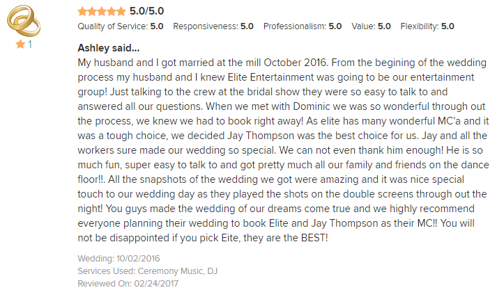 EliteEntertainment_WeddingWireReview_NJWedding_JayThomson 2016 10-2-16