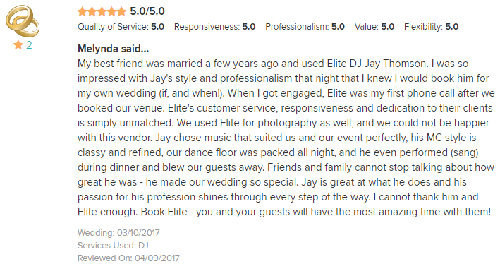 EliteEntertainment_WeddingWireReview_NJWedding_JayThomson 2017 3-10-17