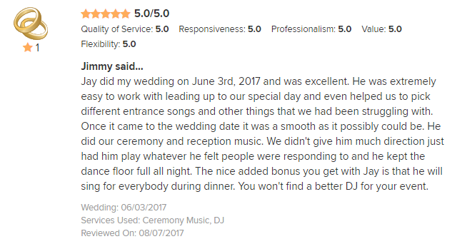 EliteEntertainment_WeddingWireReview_NJWedding_JayThomson 2017 6-03-17