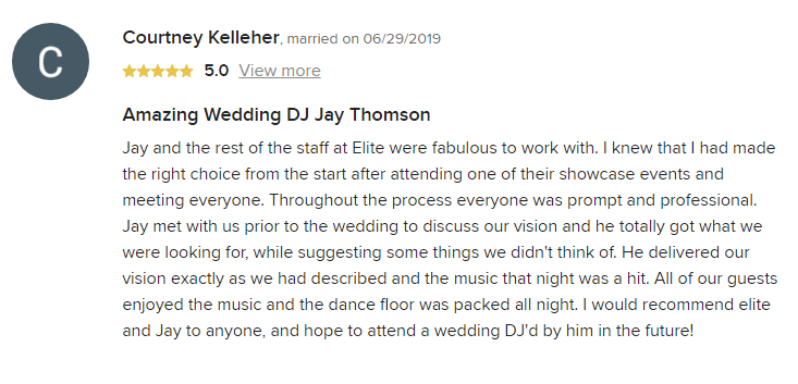 EliteEntertainment_WeddingWireReview_NJWedding_JayThomson 2019 06-29-2019