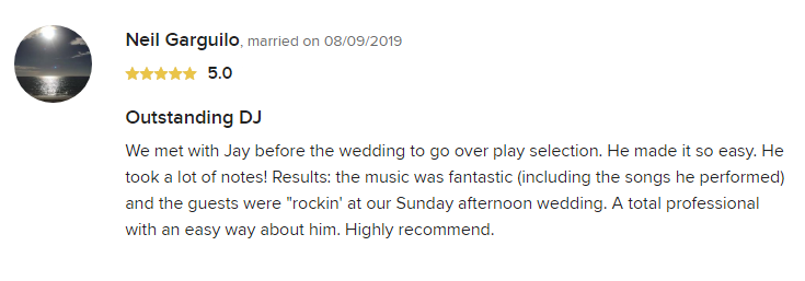 EliteEntertainment_WeddingWireReview_NJWedding_JayThomson 2019 08-9-2019