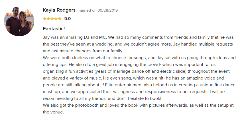 EliteEntertainment_WeddingWireReview_NJWedding_JayThomson 2019 09-28-2019