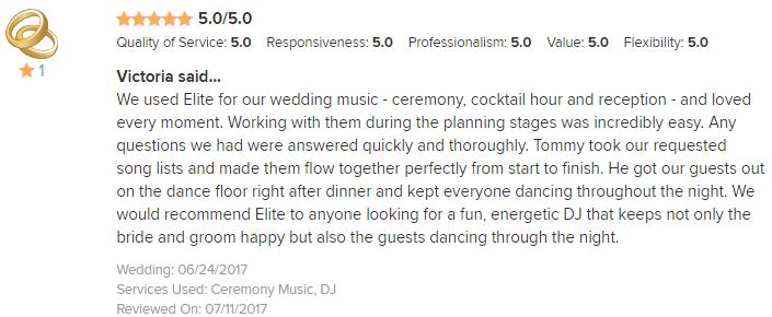 EliteEntertainment_WeddingWireReview_NJWedding_TomMonaco 2017 6-24-17