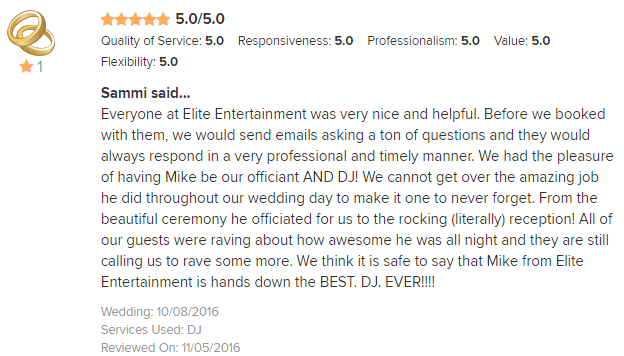 EliteEntertainment_WeddingWireReview_NJWedding_MikeWalter_Officiant