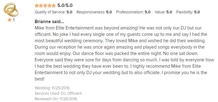 EliteEntertainment_WeddingWireReview_NJWedding_MikeWalter_Officiant