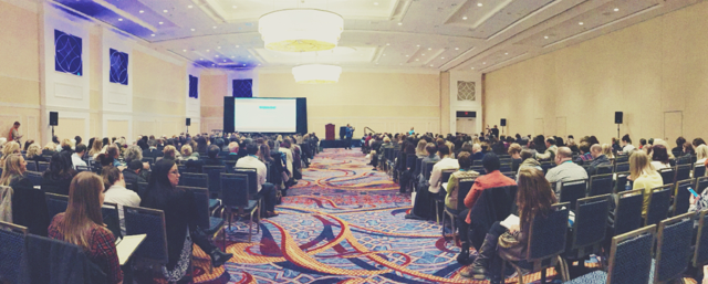 It was a packed house for Mike's seminar at  WeddingWire World