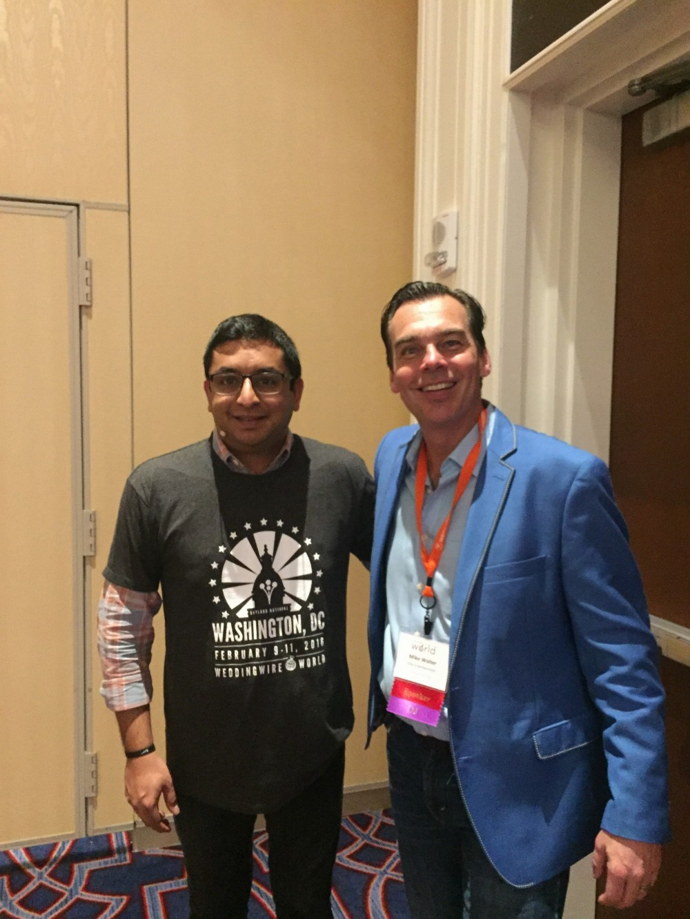 Mike Walter with WeddingWire CMO Sonny Ganguly