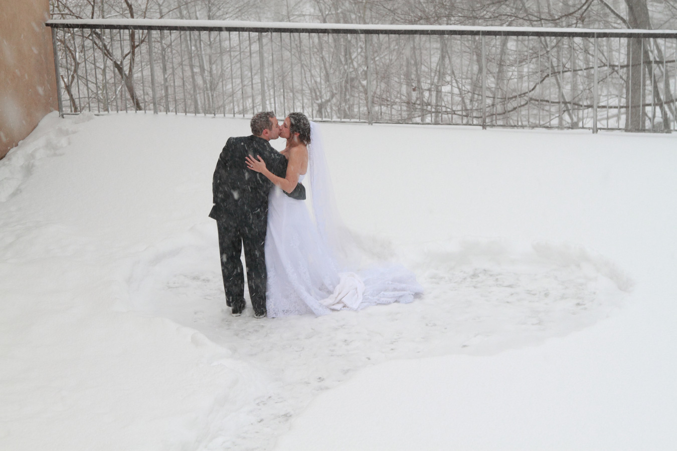 Dana and Anthony And Their Winter Wonderland Wedding (Photo by Milestones Photography 646-548-8652)