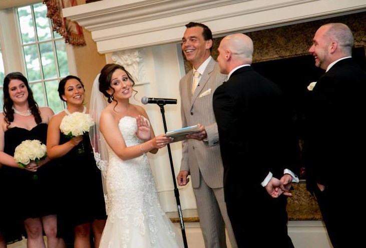 Kris and Danielle asked me to officiate their  wedding and their comfort level with me definitely helped make for an awesome ceremony