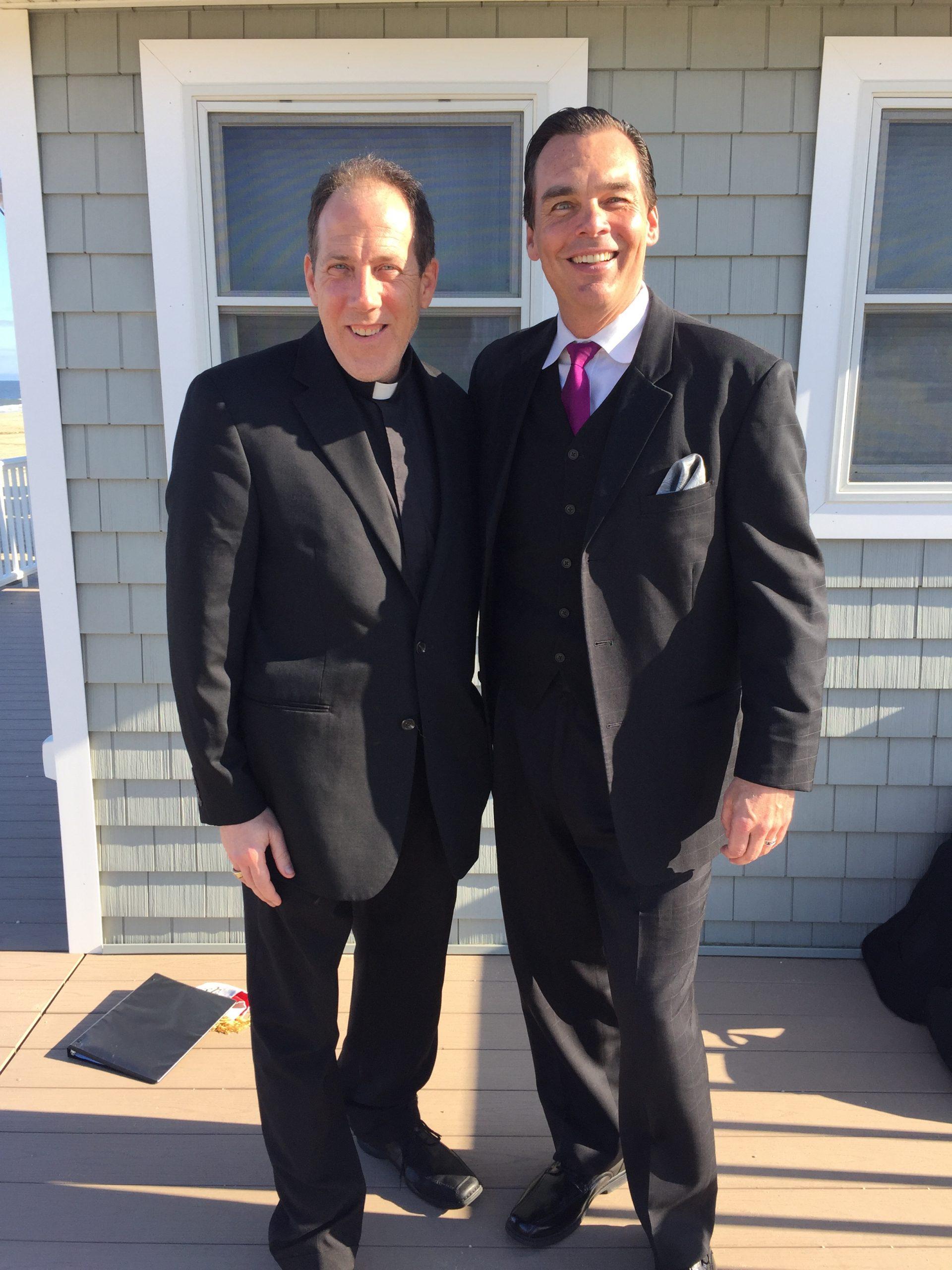 Father Jphn Michael O'Sullivan and I before the ceremony