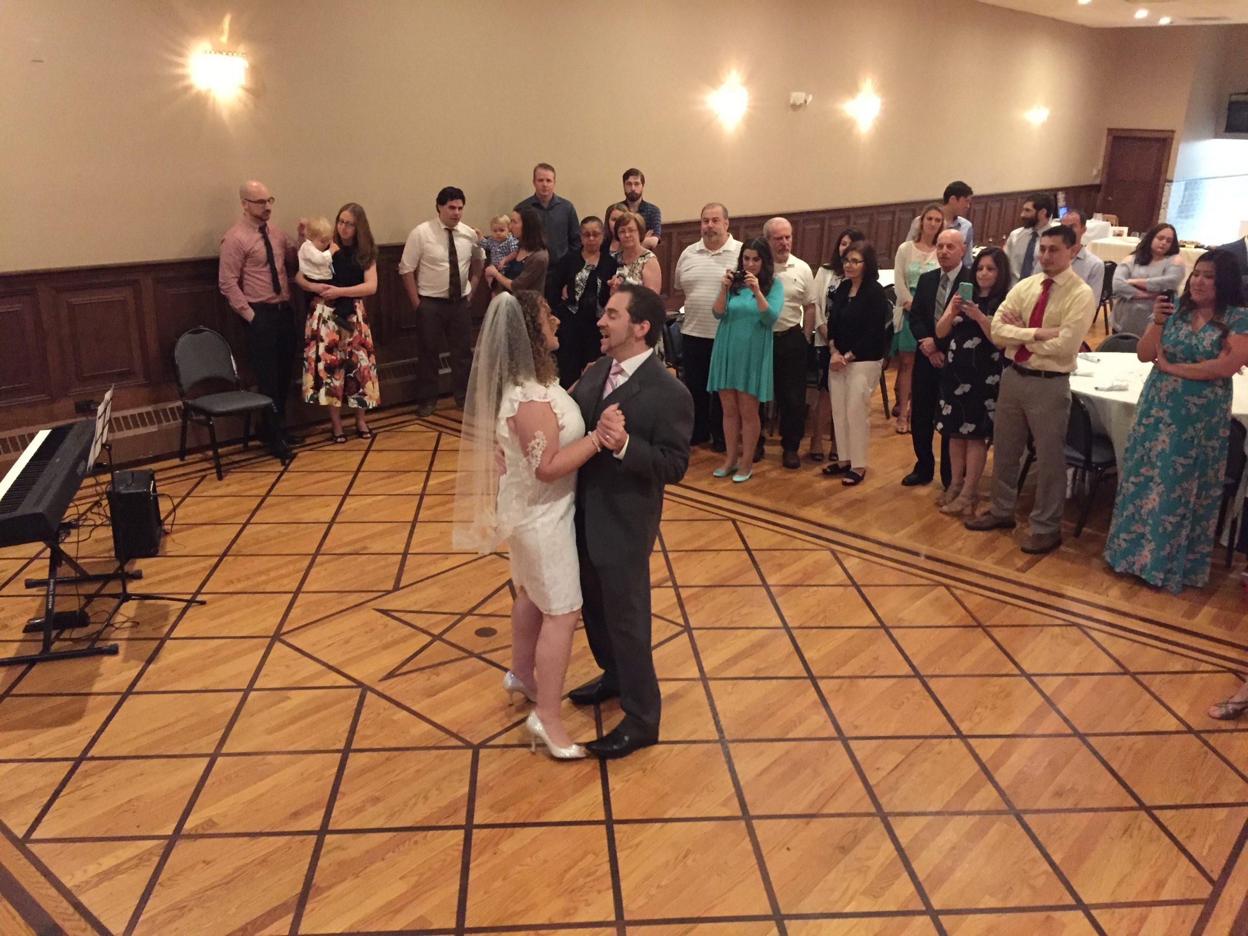Adam and Linda's first dance, before Adam broke into song