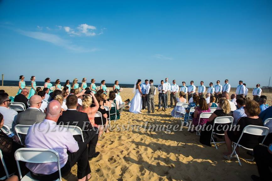 Mike and Angeline had a beautiful ceremony on the beach in Belmar.