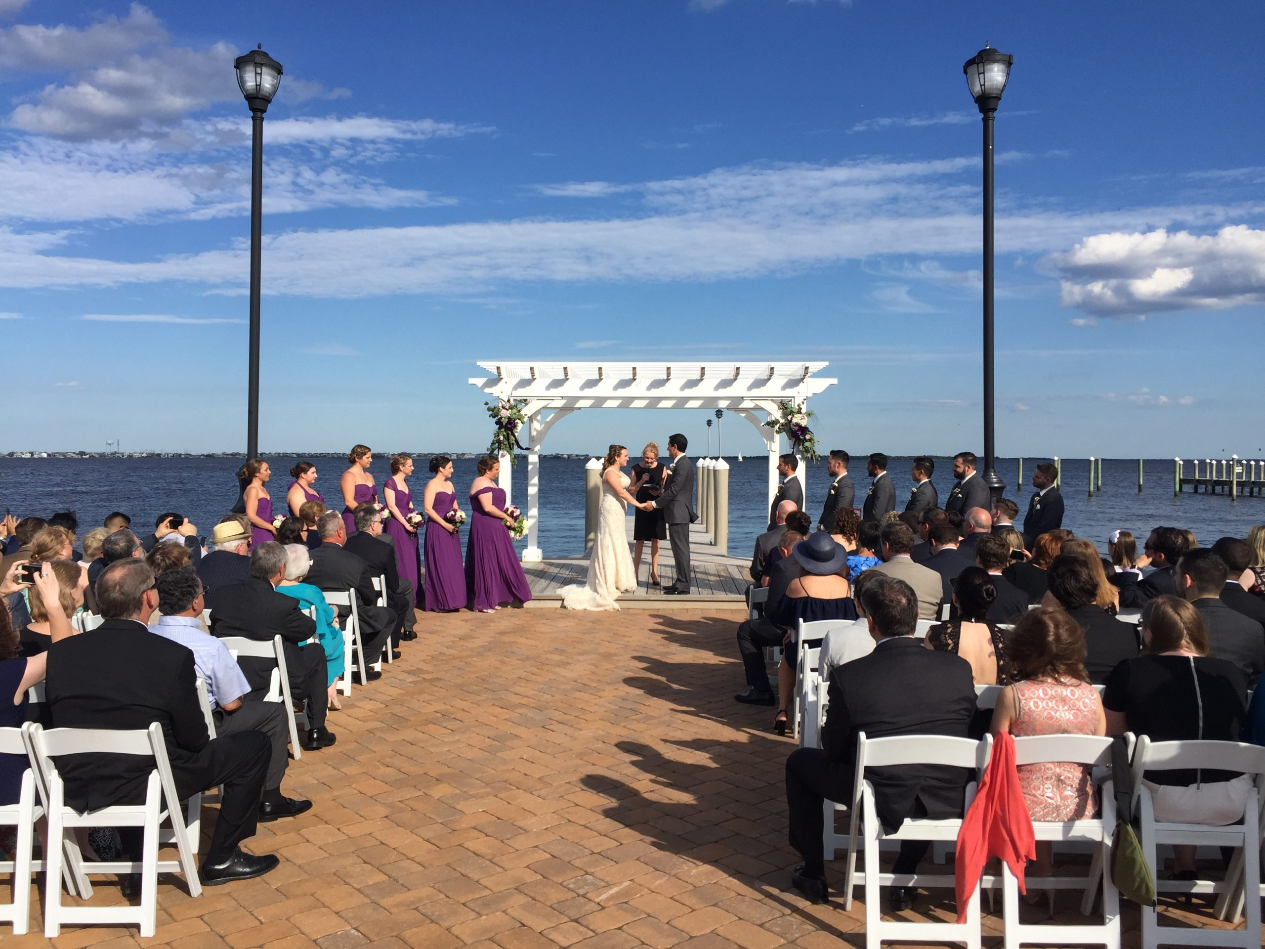 What a spot for ceremony!