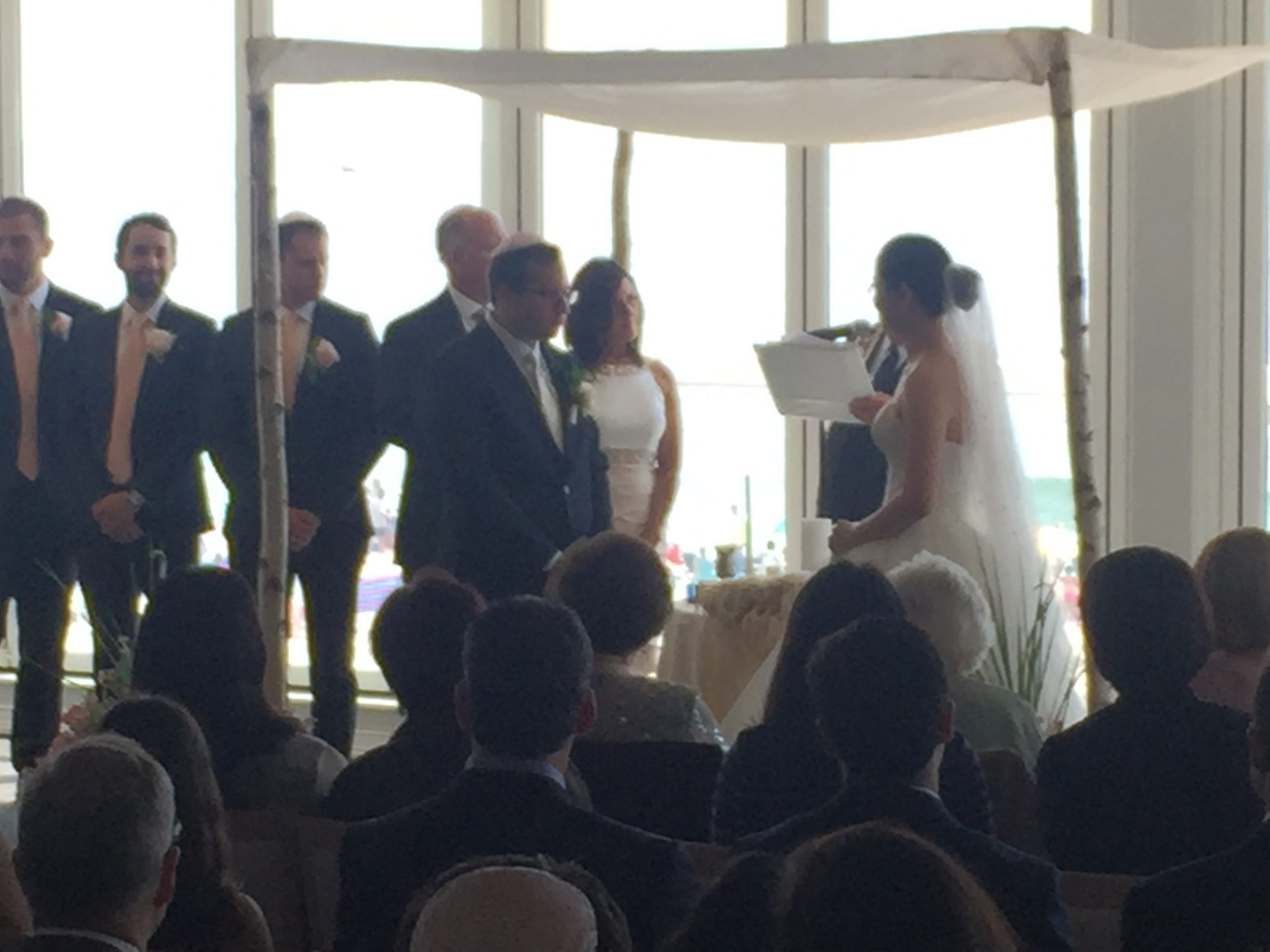 A shot from my iPhone of Brad and Sophie's ceremony