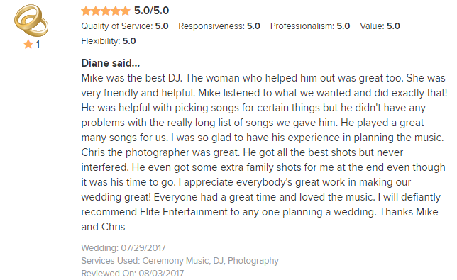 EliteEntertainment_WeddingWireReview_NJWedding_Mike Walter 2017 7-29-17