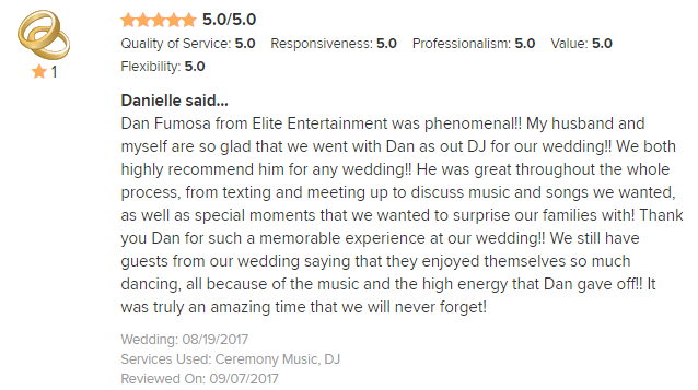 EliteEntertainment_WeddingWireReview_NJWedding_Dan Fumosa 2017 8-19-17