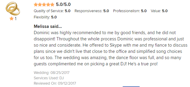 EliteEntertainment_WeddingWireReview_NJWedding_DominicSestito 2017 8-25-17