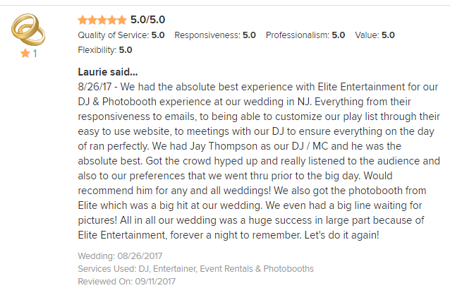 EliteEntertainment_WeddingWireReview_NJWedding_JayThomson 2017 8-26-17