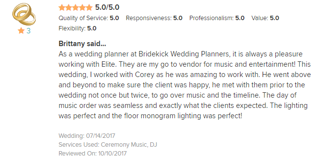 EliteEntertainment_WeddingWireReview_NJWedding_CoreyFox 2017 7-14-17