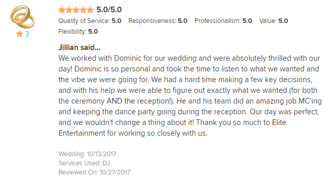 EliteEntertainment_WeddingWireReview_NJWedding_DominicSestito 2017 10-13-17