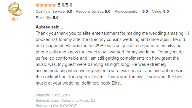 EliteEntertainment_WeddingWireReview_NJWedding_TommyMonaco 2017 10-29-17