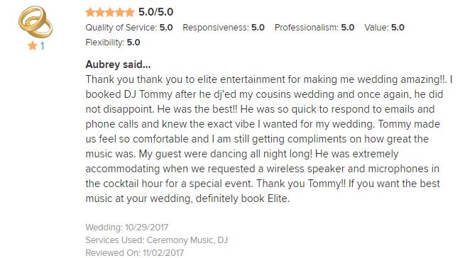 EliteEntertainment_WeddingWireReview_NJWedding_TommyMonaco 2017 10-29-17
