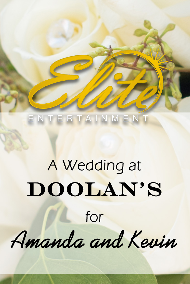 Elite Entertainmet pin - Doolan's Wedding for Amanda and Kevin