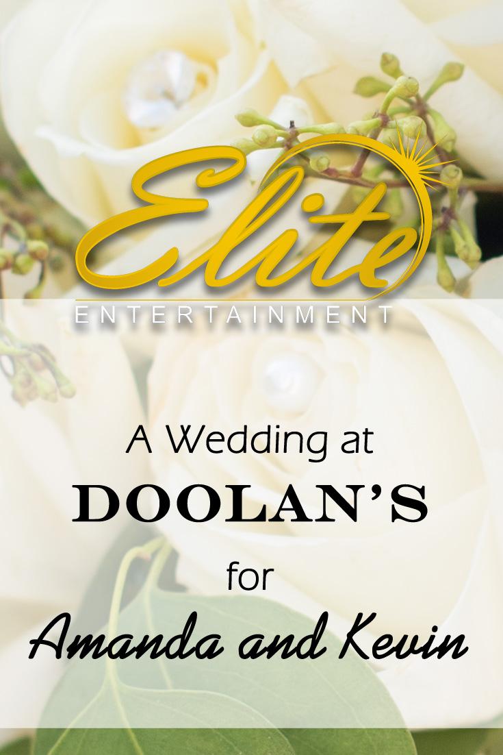 Elite Entertainmet pin - Doolan's Wedding for Amanda and Kevin