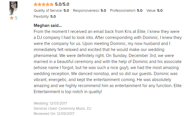 EliteEntertainment_WeddingWireReview_NJWedding_DominicSestito 2017 12-3-12