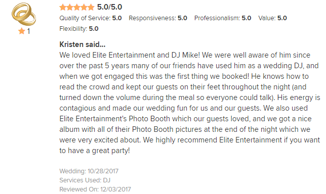 EliteEntertainment_WeddingWireReview_NJWedding_MikeWalter 2017 10-28-17