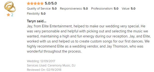 EliteEntertainment_WeddingWireReview_NJWedding_JayThompson 2017 12-9-17