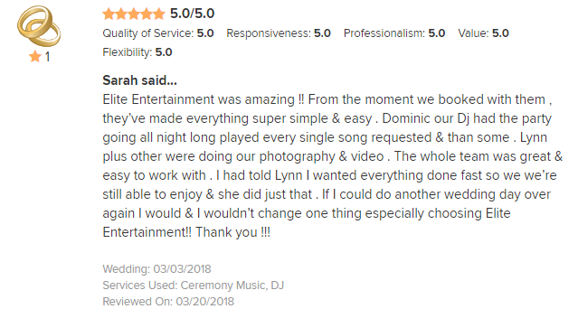 EliteEntertainment_WeddingWireReview_NJWedding_DominicSestito and Lynn 2018 3-03-18