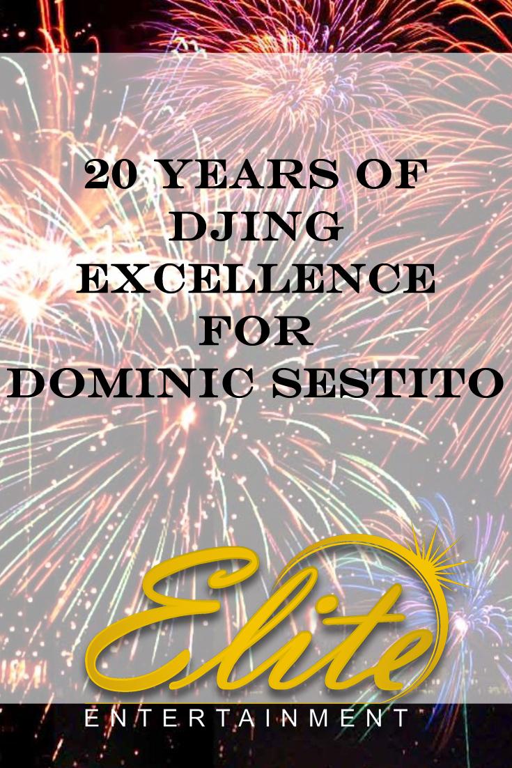 pin - Elite Entertainment - 20 Years - Dominic Sestito