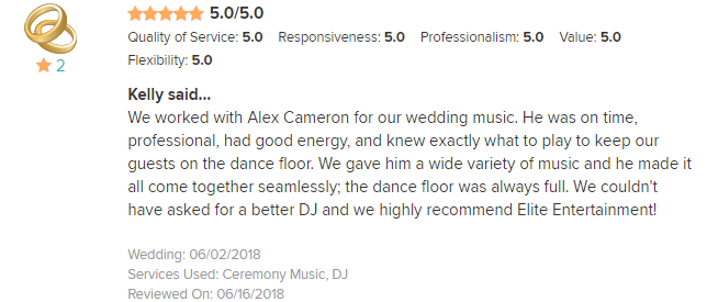 EliteEntertainment_WeddingWireReview_NJWedding_AlexCameron 2018 6-02-18