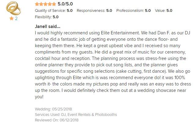 EliteEntertainment_WeddingWireReview_NJWedding_DanFumosa 2018 5-25-18
