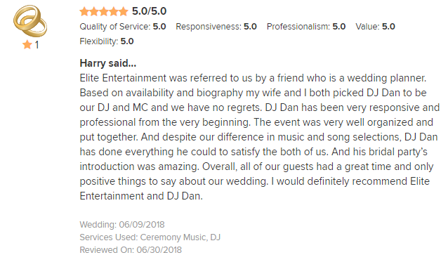 EliteEntertainment_WeddingWireReview_NJWedding_DanFumosa 2018 6-10-18