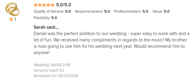EliteEntertainment_WeddingWireReview_NJWedding_DanFumosa 2018 6-8-18