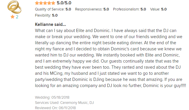 EliteEntertainment_WeddingWireReview_NJWedding_DominicSestito 2018 5-18-18