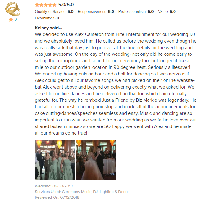 EliteEntertainment_WeddingWireReview_NJWedding_AlexCameron 2018 6-30-18