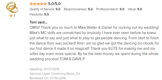 EliteEntertainment_WeddingWireReview_NJWedding_Mike and Daniel M 2018 7-27-18