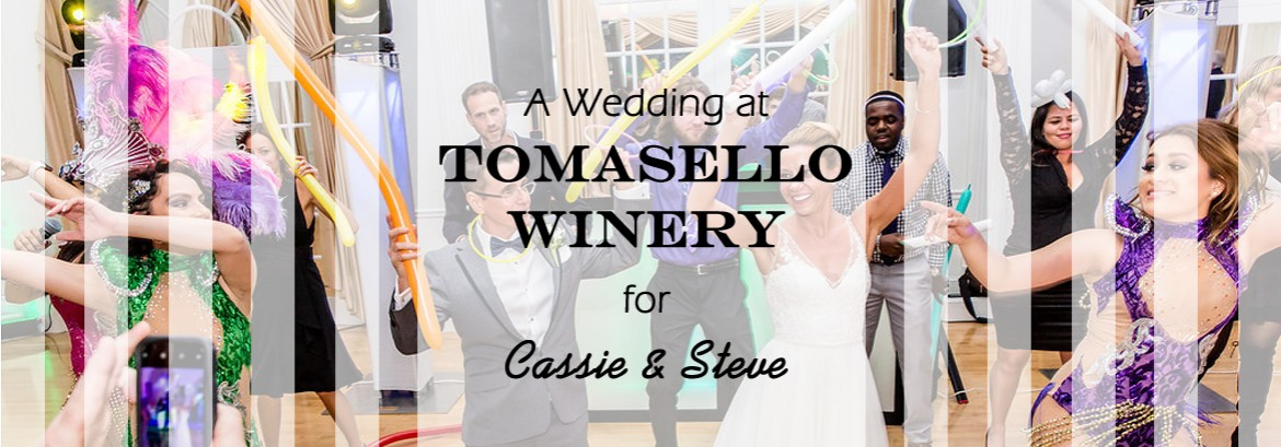 Tomasello Winery Wedding for Cassie & Steve